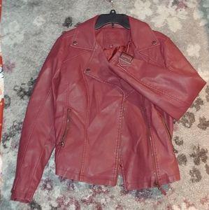 Max Studio Faux Leather Jacket - Size L